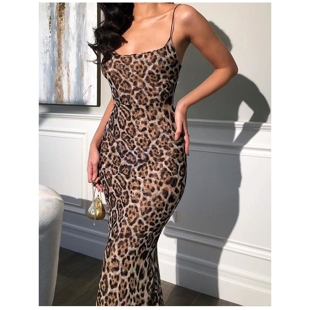 Mia Leopard Maxi Dress - At Boujee's