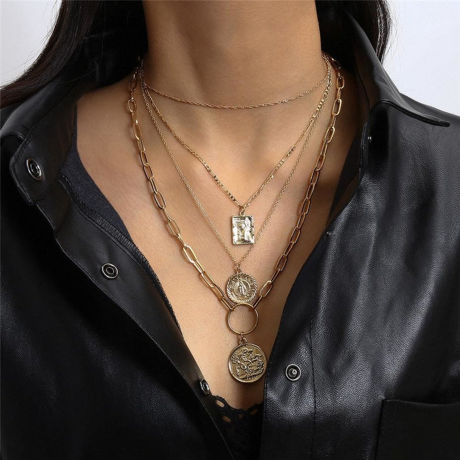 Multi Coin Necklace - At Boujee's