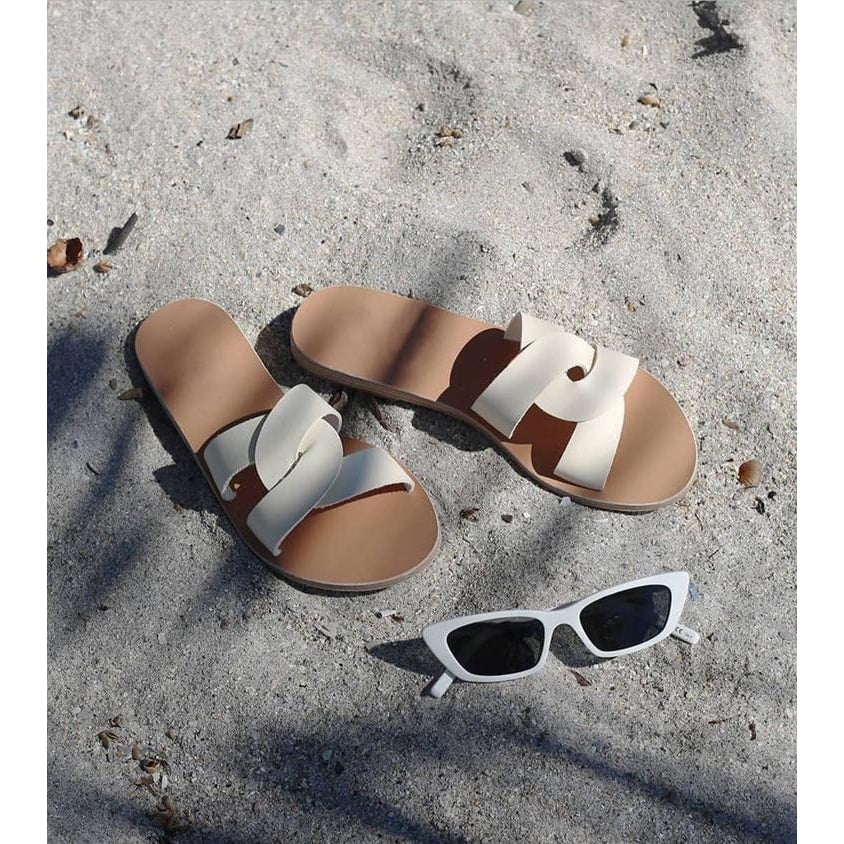 Natural Luna Sandals - At Boujee's