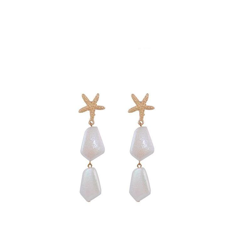 Seashell&Pearl Earrings - At Boujee's