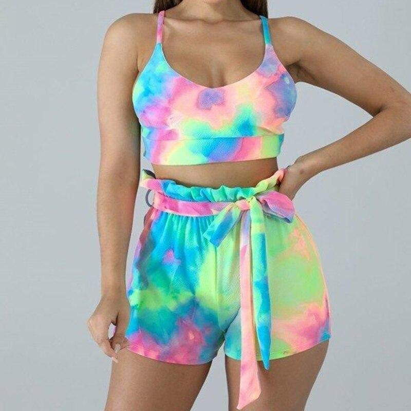 Open Back Tie Dye Set - At Boujee's
