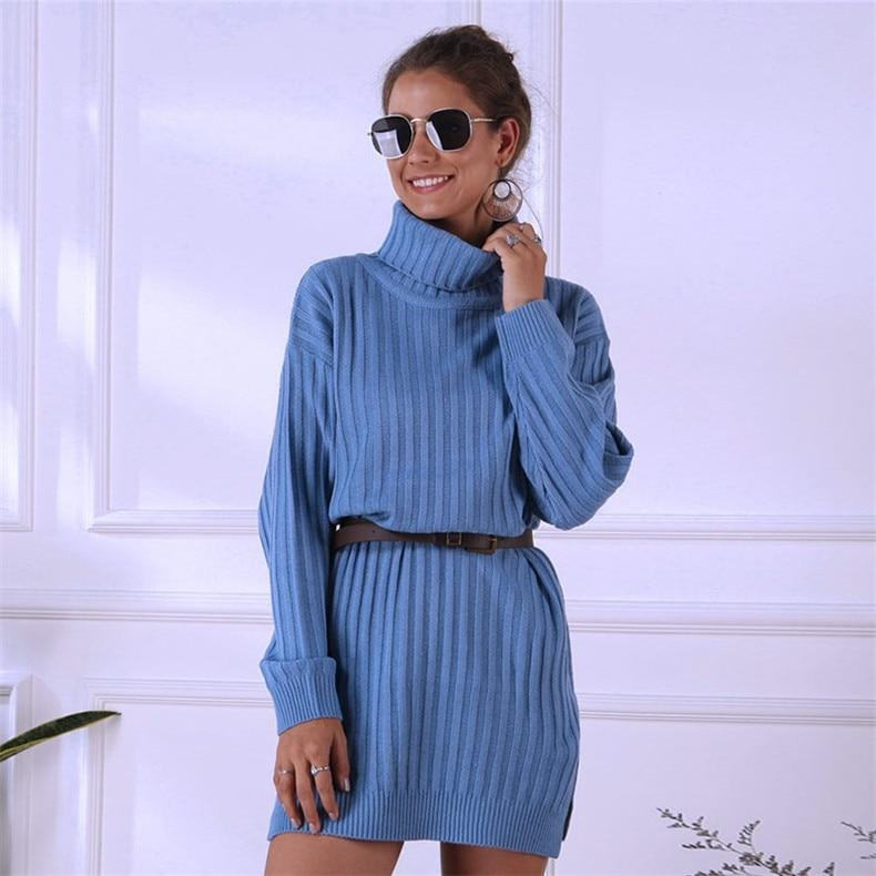 Oversized Casual Sweater Dress