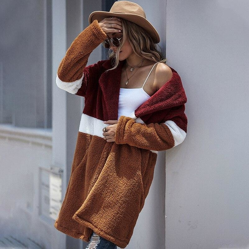 Patchwork Plush Coat