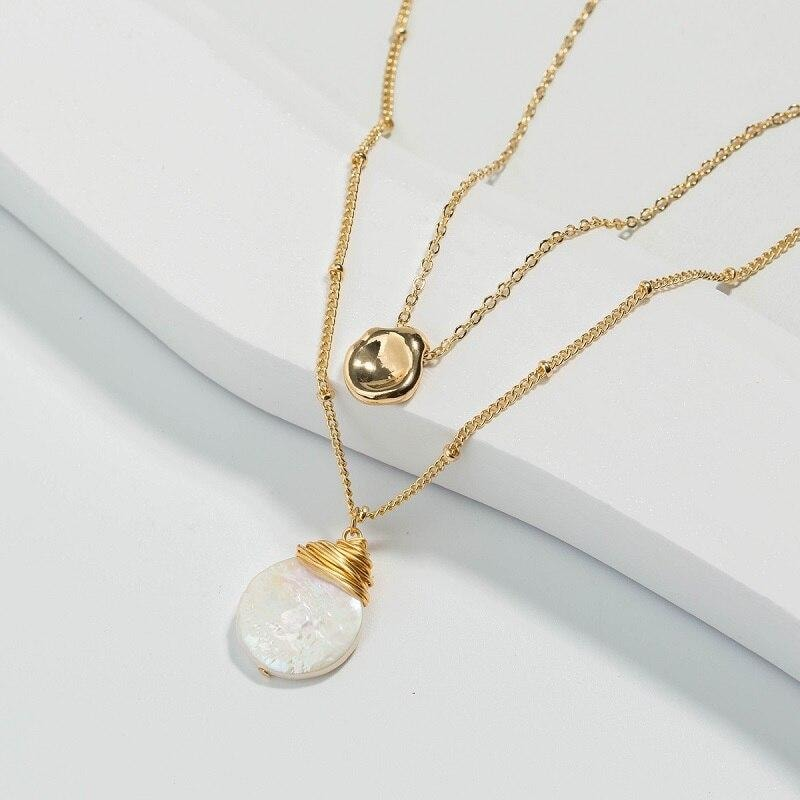 Pearl Charm Necklace - At Boujee's