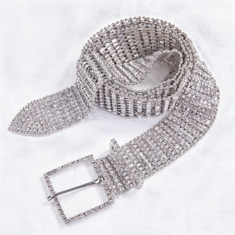 Rhinestone Belt - At Boujee's