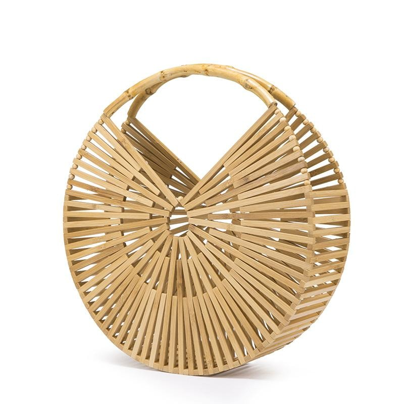 Round Bamboo Summer Bag