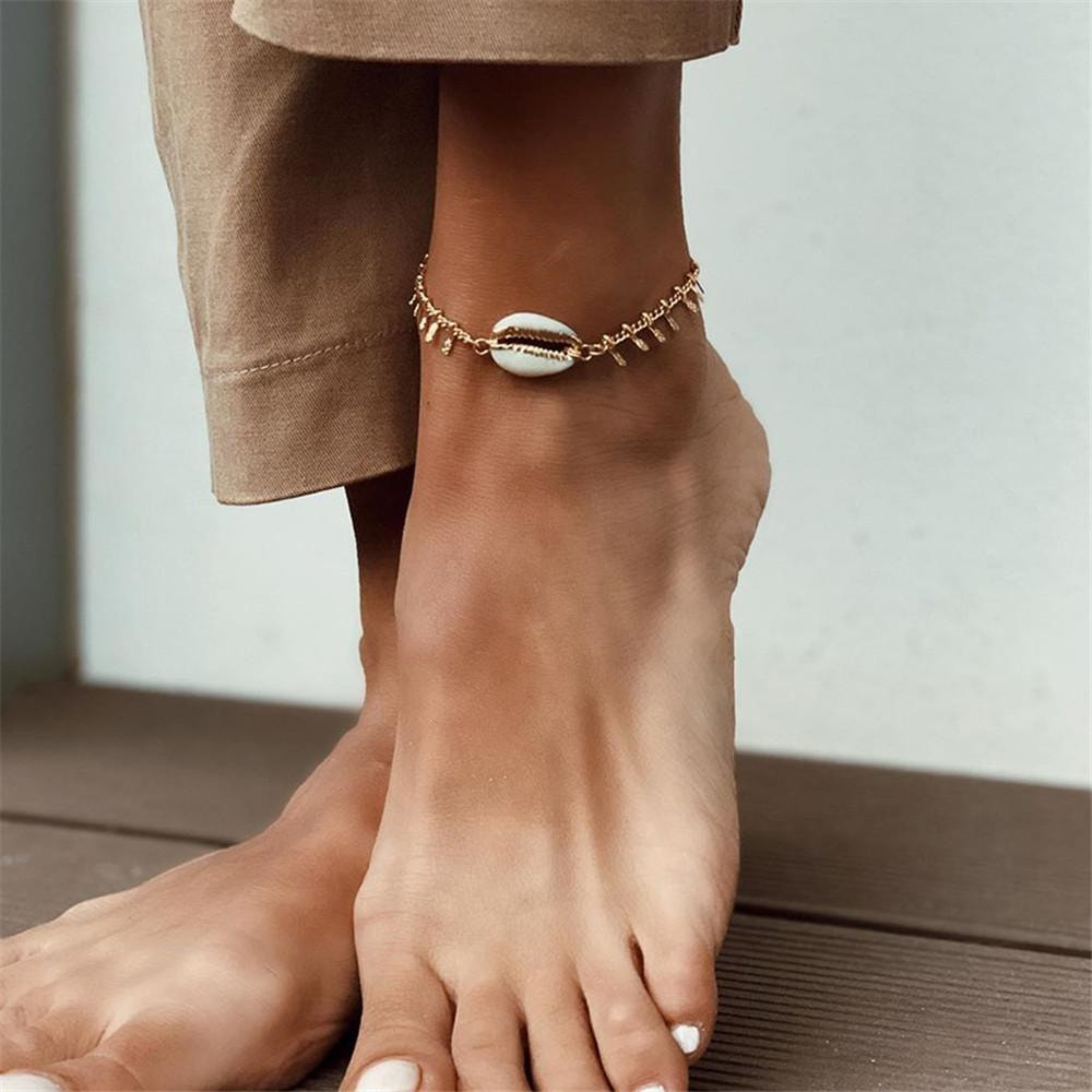 Seashell Anklet - At Boujee's