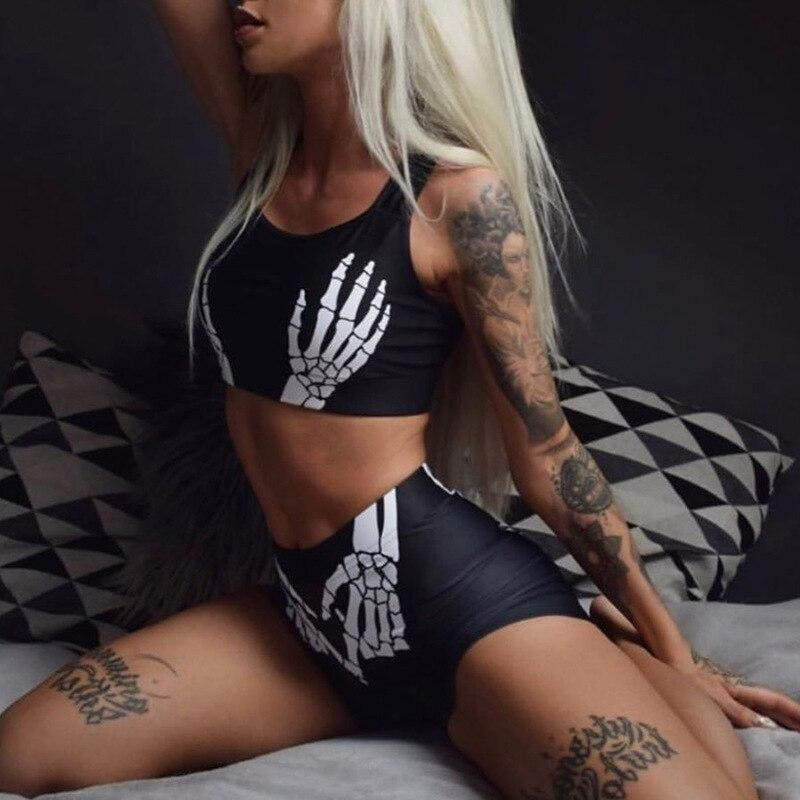 Skeleton Hand Print Two Piece Set