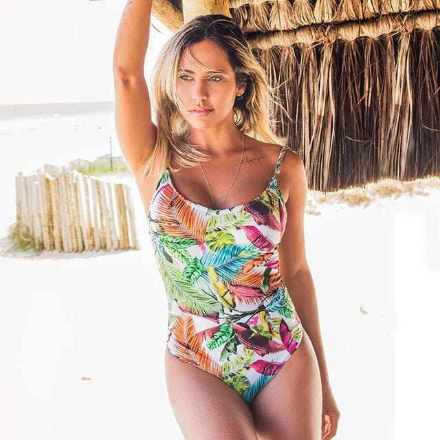 Skylar Retro One Piece Suit - At Boujee's
