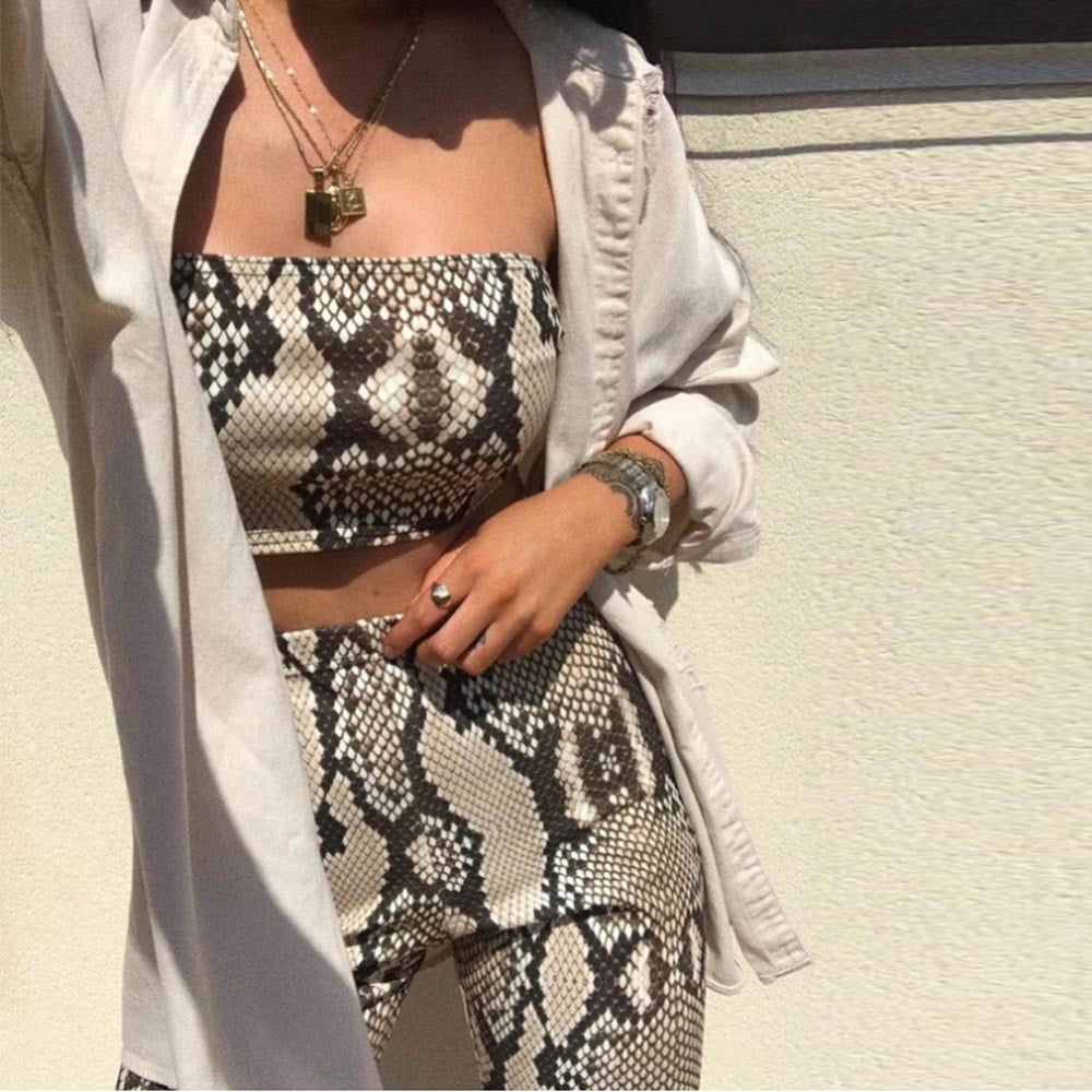 Snake Print Two Piece Set - At Boujee's