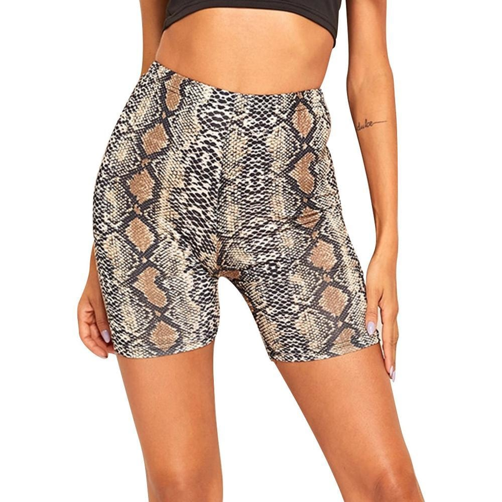 Snakeskin Print Shorts - At Boujee's