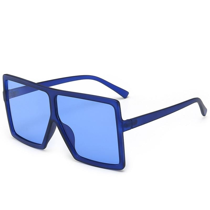 Square Oversized Sunglasses - blue