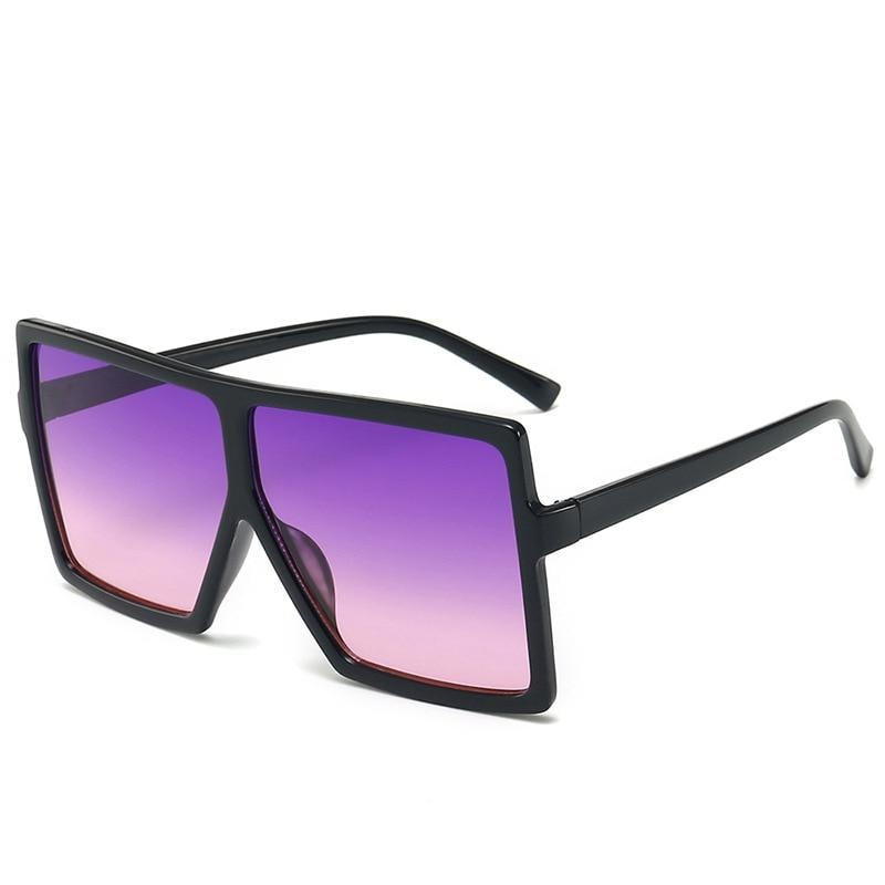 Square Oversized Sunglasses - purple