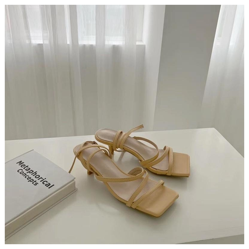 Strap Pastel Sandals - Yellow / 5