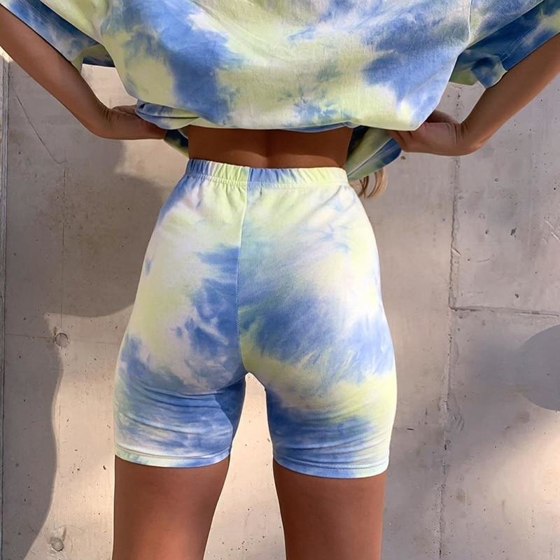 Tie Dye Shorts - At Boujee's