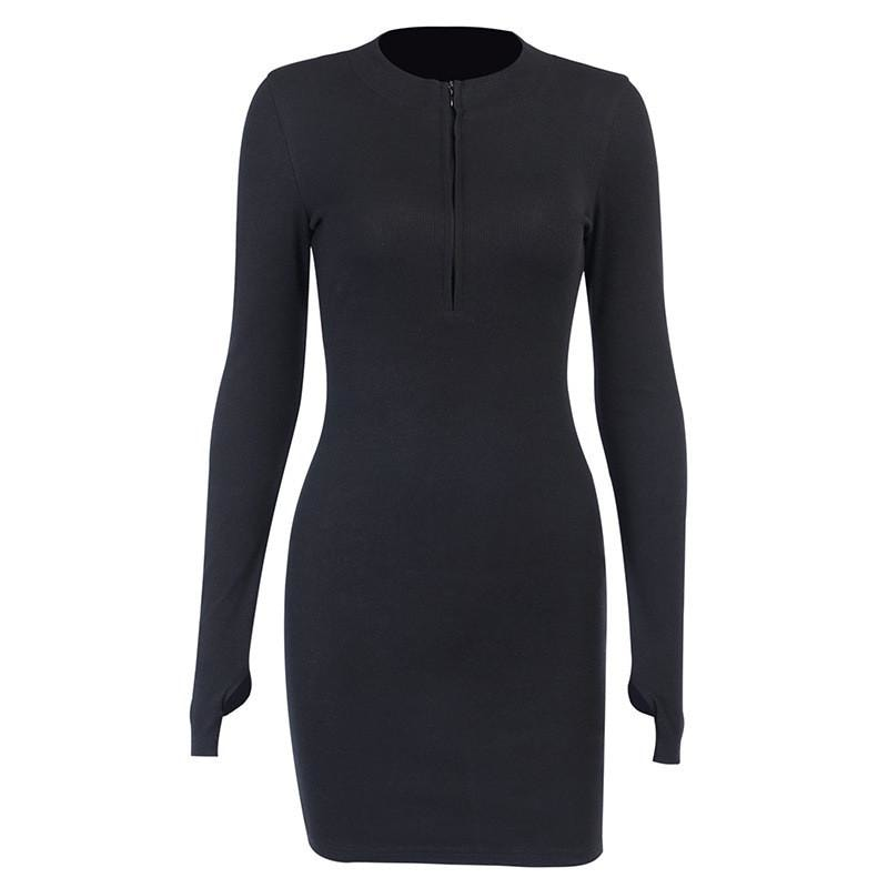 Tina Ribbed Dress - At Boujee's