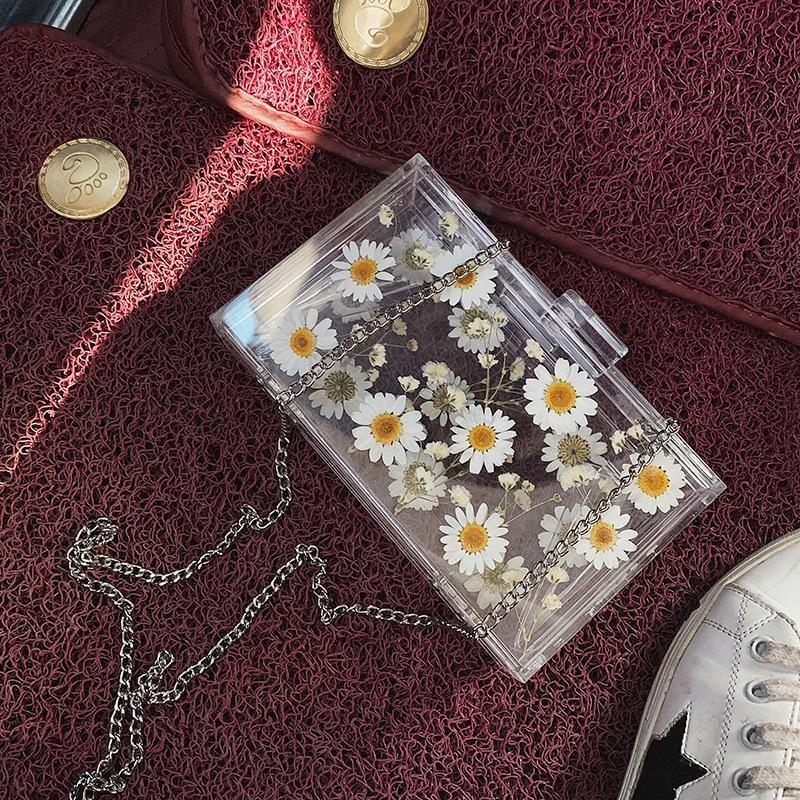 Transparent Daisy Clutch - At Boujee's