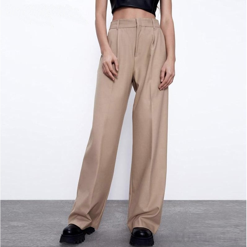 Wide Leg Suit Pants