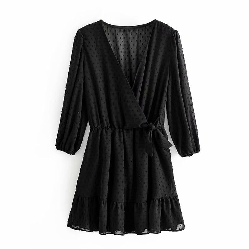 Wrap Chiffon Dress