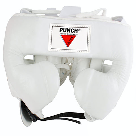 Mexican Fuerte Ultra Boxing Headgear-White