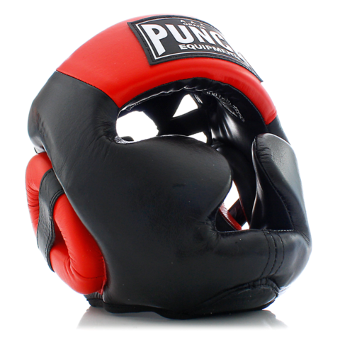 Punch Trophy Getters Full Face Head Gear - Red/Black