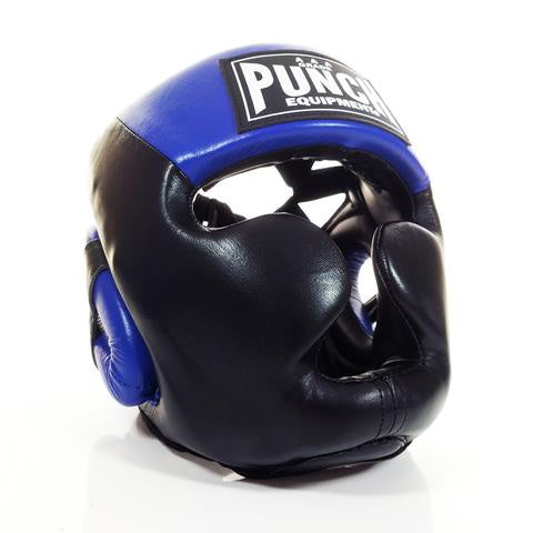 Punch Trophy Getters Full Face Head Gear - Blue/Black