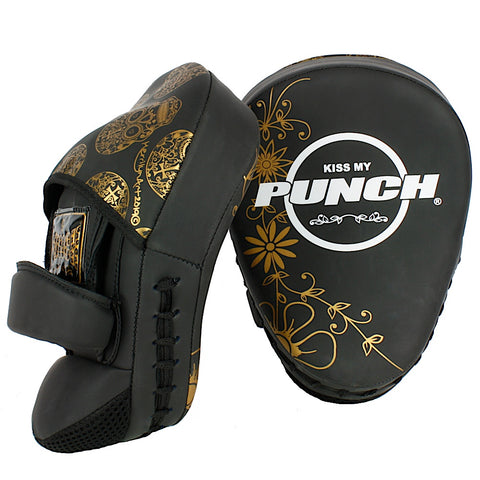 PUNCH WOMENS BOXING PADS SKULLS