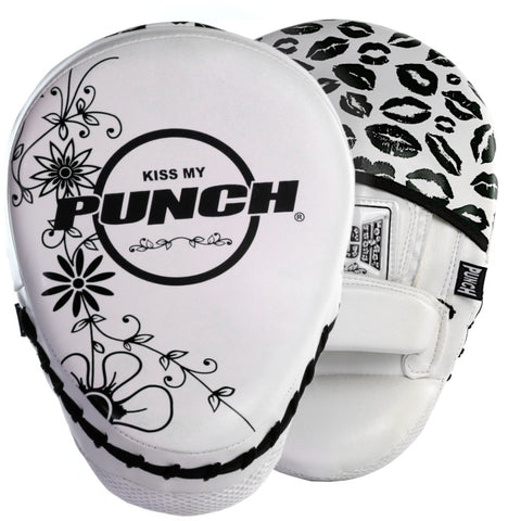 PUNCH WOMENS BOXING FOCUS PADS – LIP ART – BLACK