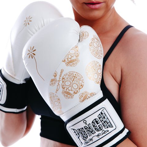 Punch Womens Boxing Gloves Skull