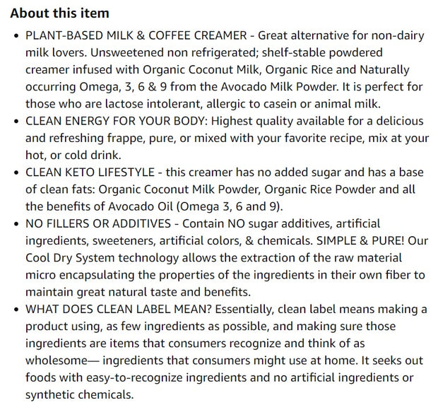 New Essenzefruits Superfood Plant Based Milk & Coffee Creamer - Unsweetened  | Omegas 3, 6 and 9 helps adaptive Immune System | Innovation | Non-GMO | MCT Oil | Keto | Paleo | Vegan - 8 oz Bag - EssenzeFruits
