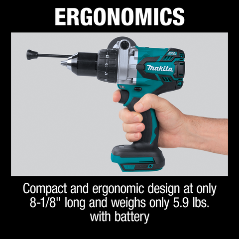 "Makita XPH07Z 18V LXT® Lithium‑Ion Brushless Cordless 1/2"" Hammer Driver‑Drill, Tool Only"