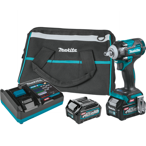 "Image of Makita GWT05D 40V max XGT® Brushless Cordless 4‑Speed 1/2"" Sq. Drive Impact Wrench Kit w/ Detent Anvil (2.5Ah)"