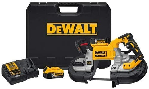 DeWalt DCS376P2 20-Volt MAX Lithium-Ion Cordless 5 in. Capacity Bandsaw with 2 Batteries 5.0 Ah Charger and Case