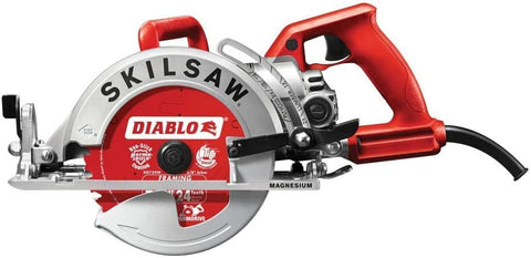 SKILSAW SPT77WML-22 7-1/4 in. Lightweight Magnesium Worm Drive Circular Saw with Diablo Carbide Blade