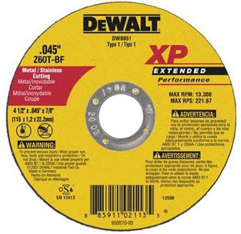 "DEWALT DW8860H 7 in. x 0.045 in. XP Cutting Wheel, 5/8""-11 Arbor"