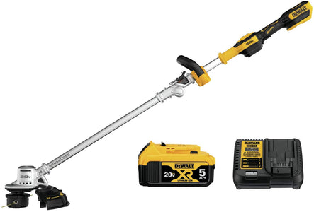 DeWalt DCST922P1 20V MAX Lithium-Ion Brushless Cordless String Trimmer with (1) 5.0Ah Battery and Charger Included