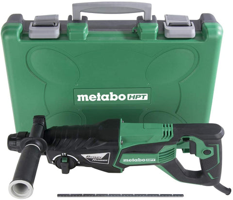 Metabo HPT DH26PFM Rotary Hammer SDS Plus 1-Inch 7.5-Amp For Drilling Chipping and Hammer Drilling