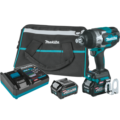 "Image of Makita GWT01D 40V max XGT® Brushless Cordless 4‑Speed High‑Torque 3/4"" Sq. Drive Impact Wrench Kit w/ Friction Ring Anvil (2.5Ah)"