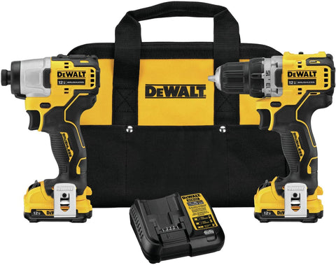 DEWALT DCK221F2 XTREME 2-Tool 12-volt Max Brushless Power Tool Combo Kit with Soft Case (Charger Included and 2-Batteries Included)