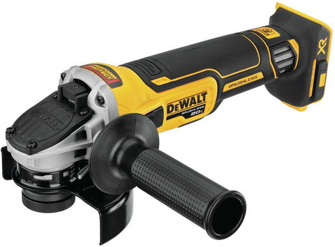 DEWALT DCG405B 20V MAX XR Angle Grinder with Kickback Brake, Slide Switch, 4 1/2 Inch, Tool Only