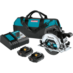 "Makita XSH04RB 18V LXT® Lithium‑Ion Sub‑Compact Brushless Cordless 6‑1/2"" Circular Saw Kit (2.0Ah)"