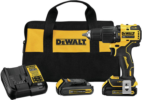 DeWalt DCD709C2 ATOMIC 20-Volt MAX Lithium-Ion Cordless Brushless 1/2 in. Compact Hammer Drill Kit