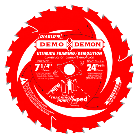 Diablo D0724DA 7 1/4 in. x 24 Tooth Ultimate Framing / Demolition Saw Blade