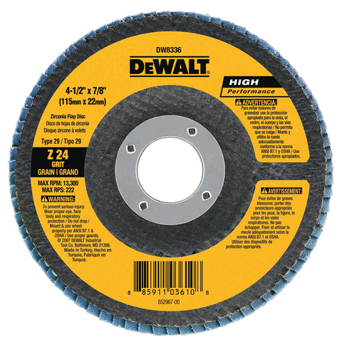 DEWALT DW8380H 6 in. X 5/8-Inch-11 40G Type 29 Hp Flap Disc