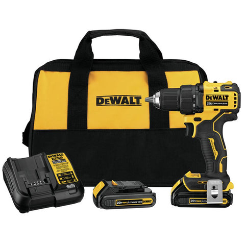 DeWalt DCD708C2 ATOMIC 20V MAX* Brushless Compact Drill/Driver Kit