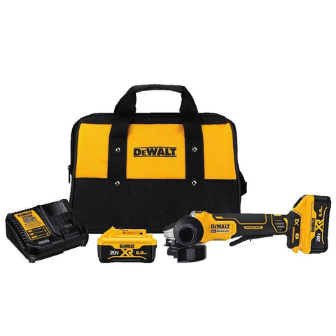 "DeWalt DCG413R2 4.5"" 20V Paddle Switch S Angle Grinder Kit W/ Kickback Brake"
