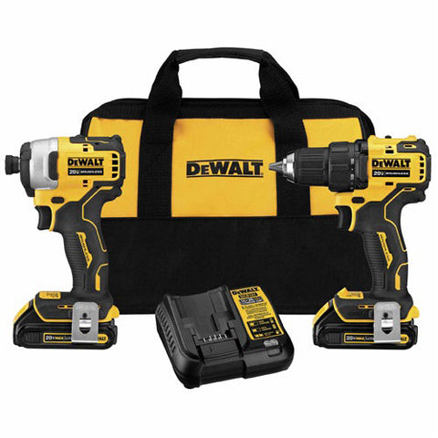 DeWalt DCK278C2 ATOMIC 20V MAX* Compact Brushless Drill/Impact Driver Kit
