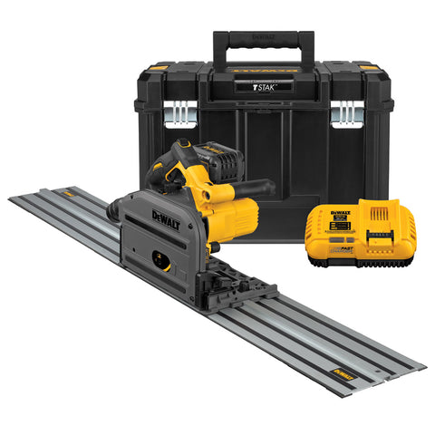 "DeWalt DCS520ST1 60V MAX 6-1/2"" (165mm) Cordless Track Saw Kit W/59"" Track"