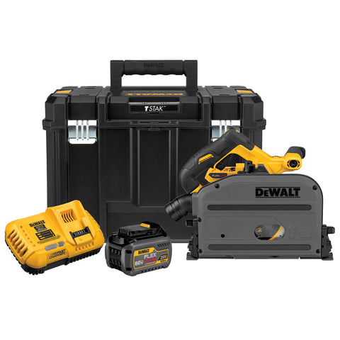 "DeWalt DCS520T1 60V MAX 6-1/2"" (165mm) Cordless TrackSaw Kit"