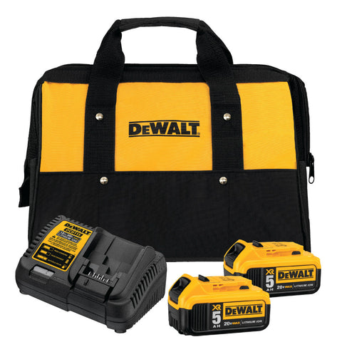 DeWalt DCB205-2CK 20V MAX Li-Ion Battery 2-Pack (5.0 Ah) Starter Kit